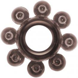 Эрекционное кольцо Rings Bubbles black 0112-31Lola