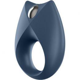 Эрекционное кольцо на пенис Satisfyer Royal, силикон, синий, 7,5 см.