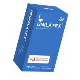 Презервативы Unilatex Natural Plain №12+3 гладкие классические