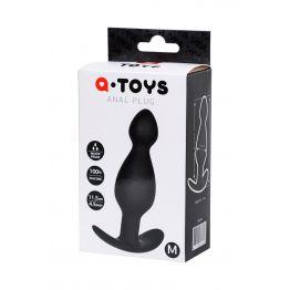 Анальная пробка A-Toys by TOYFA размера M, силикон, черная, 11,5 см, Ø 3,5 см