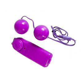 Вагинальные шарики с вибрацией, фиолетовые