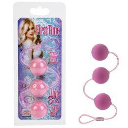 Три вагинальных шарика FIRST TIME розовые
