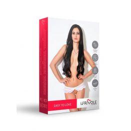 Завлекающие белые трусики с доступом и нежной юбочкой (Easy to love) (L/XL (46-48))
