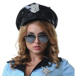 Фуражка полицейского винил (One size)